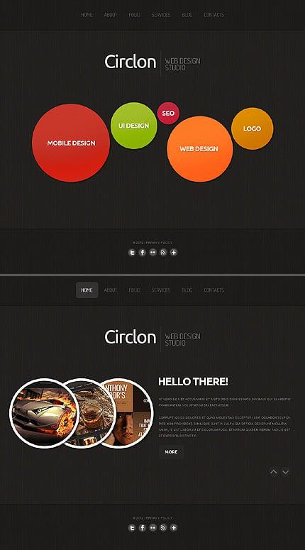 ADOBE Photoshop Template 41618 Home Page Screenshot