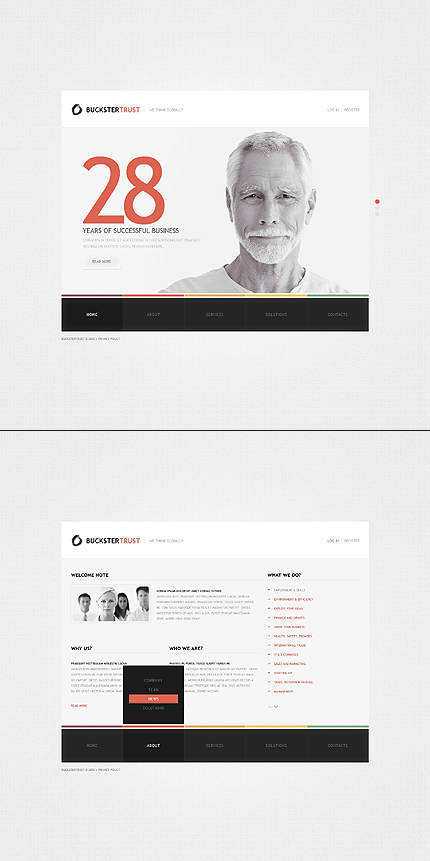 ADOBE Photoshop Template 41619 Home Page Screenshot