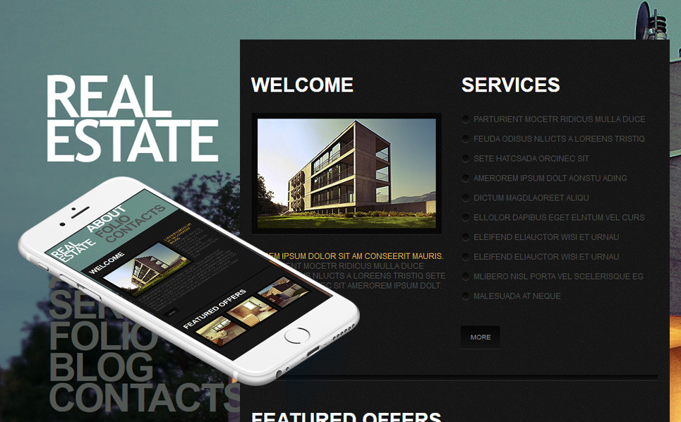 Premium Moto CMS HTML Template over Makelaarskantoor New Screenshots BIG