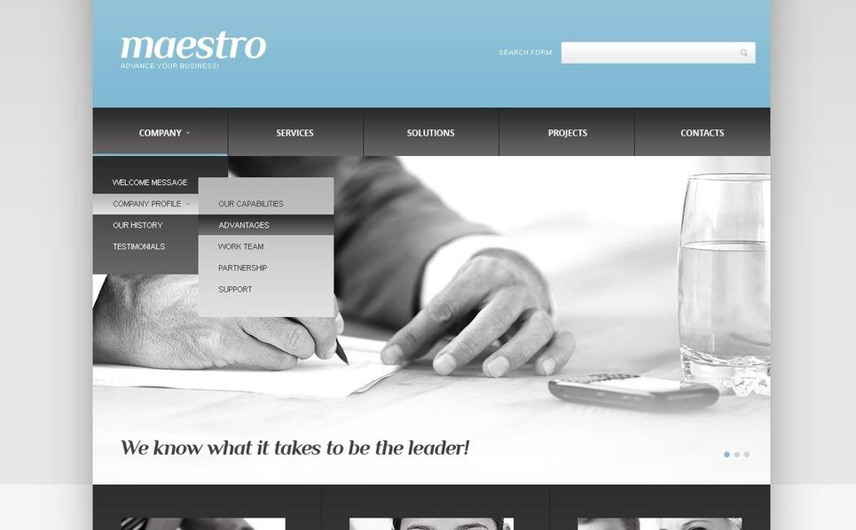 Template Web Flexível para Sites de Consultoria №41627 New Screenshots BIG