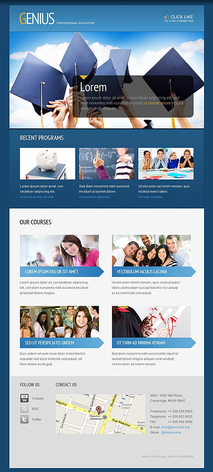 ADOBE Photoshop Template 41629 Home Page Screenshot
