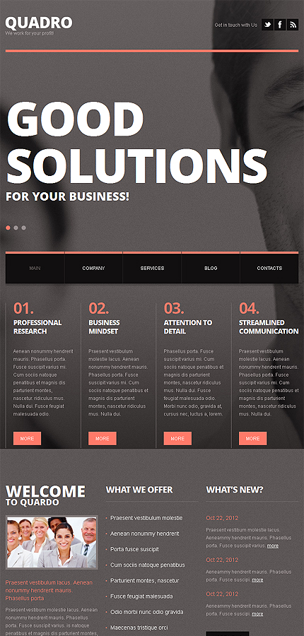 Joomla Theme/Template 41638 Main Page Screenshot
