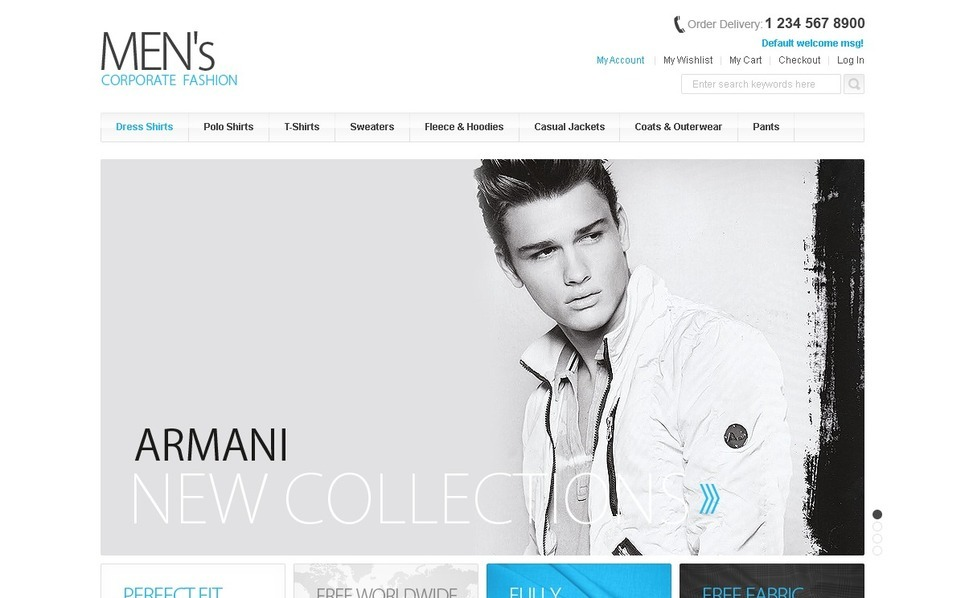 Giyim  Magento Teması New Screenshots BIG