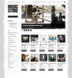 Music ZenCart  Template 41653