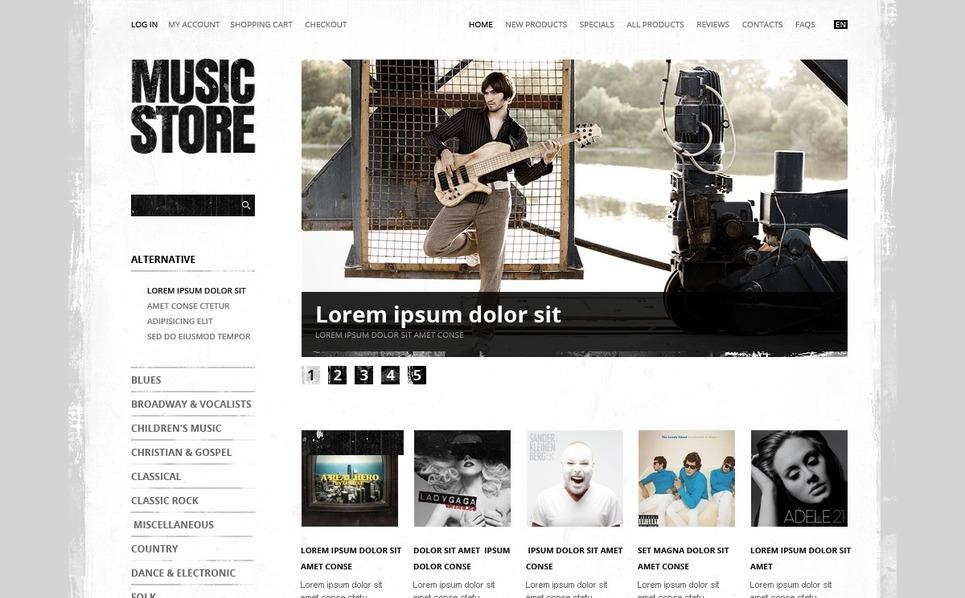 Thème Zen Cart  pour boutique de musique New Screenshots BIG