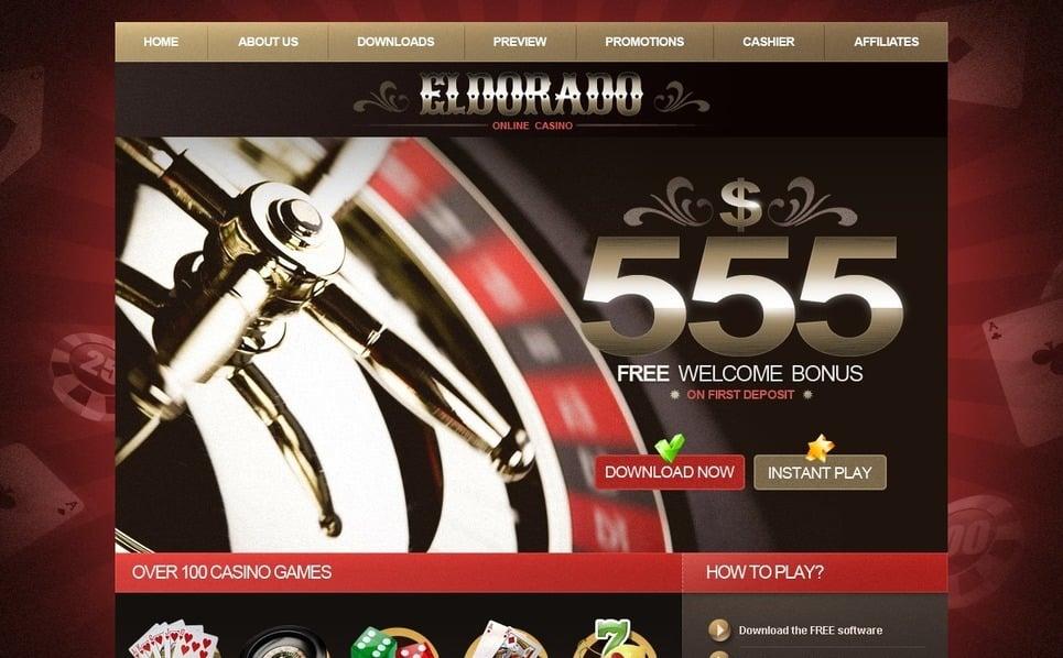 Šablona webových stránek Kasino Online New Screenshots BIG