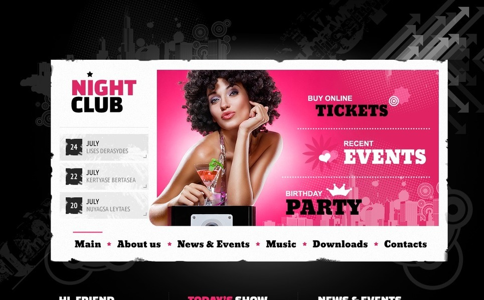 Website Vorlage für Nachtclub  New Screenshots BIG