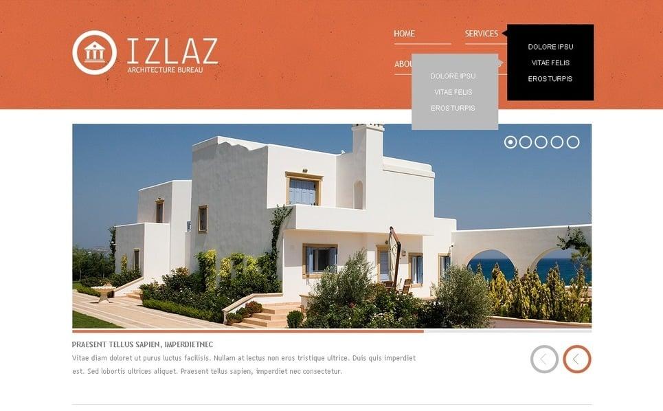 Plantilla Web #41670 para Sitio de Arquitectura New Screenshots BIG