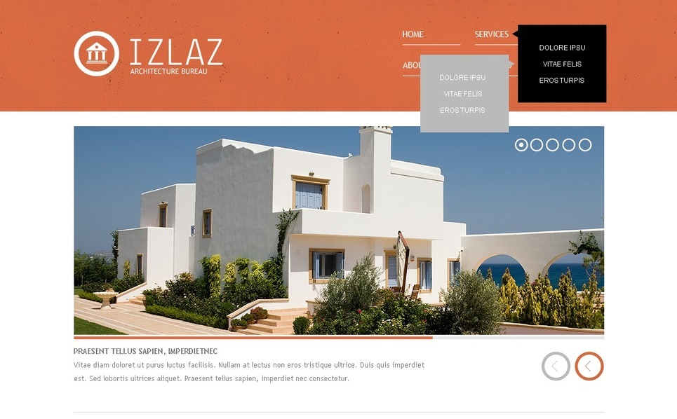 建筑术网页模板 New Screenshots BIG