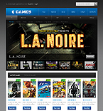 Games Website  Template 41671