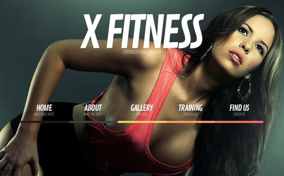 Website template over Fitness New Screenshots BIG