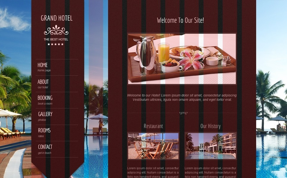 Template Siti Web  #41680 per Un Sito di Hotel New Screenshots BIG