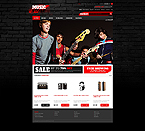 Music ZenCart  Template 41684