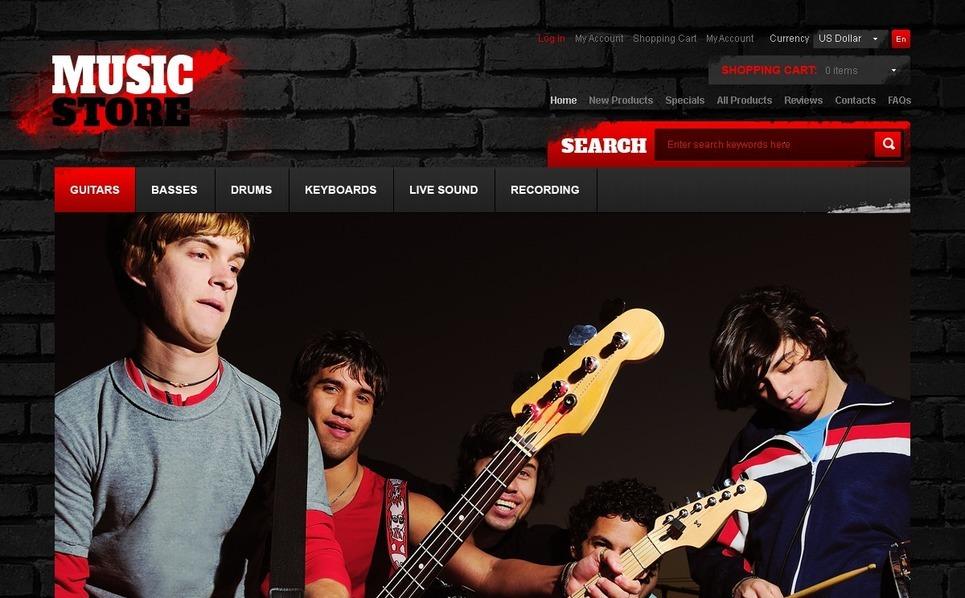 ZenCart template over Muziek Winkel  New Screenshots BIG