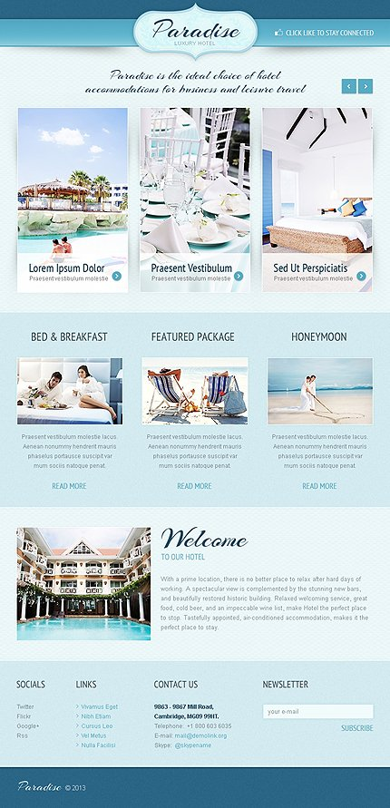 ADOBE Photoshop Template 41696 Home Page Screenshot