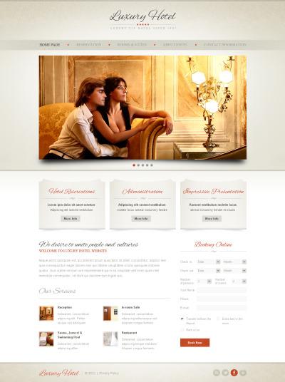 Hotels Moto CMS HTML šablona