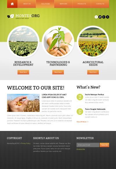 Agriculture Moto CMS HTML šablona