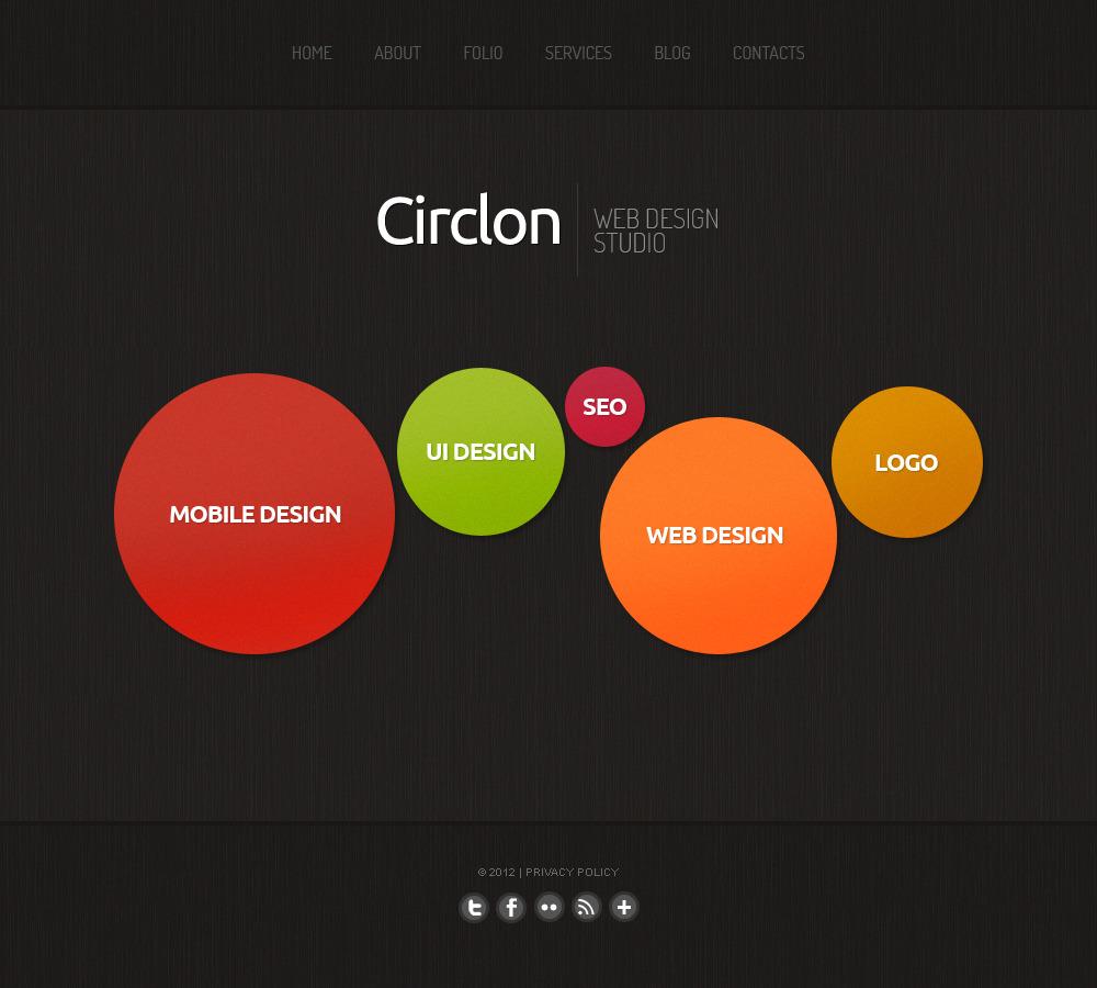 Tema moto cms html 41618 per un sito di design studio for Sito di design