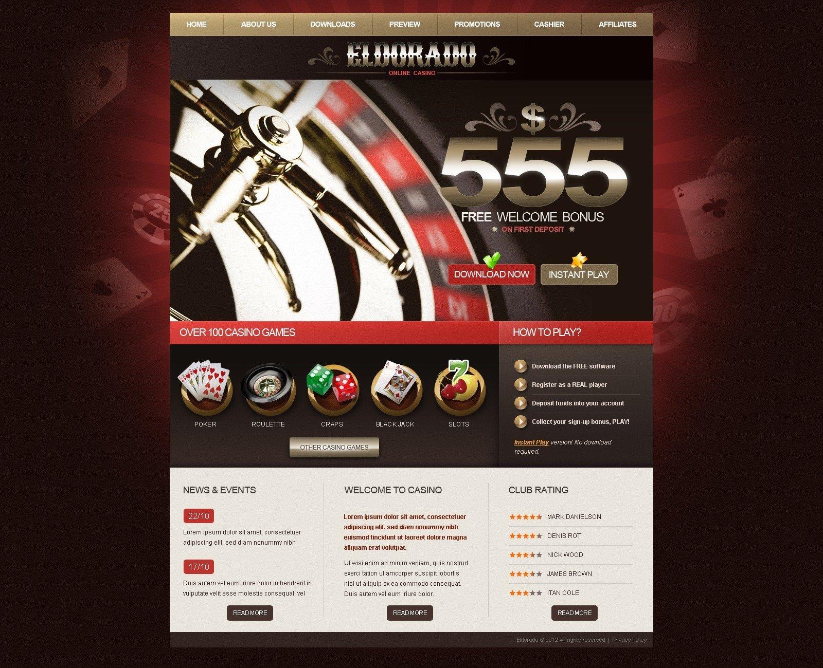 Template monster online casino virgin casino online free slots