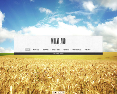 Szablon Moto CMS HTML #41616 na temat: rolnictwo