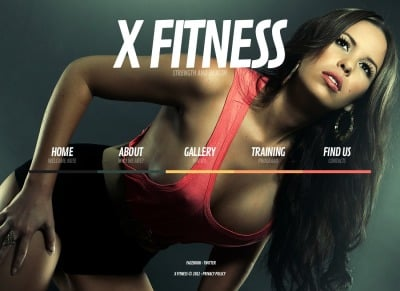 Szablon Strona Www #41675 na temat: fitness