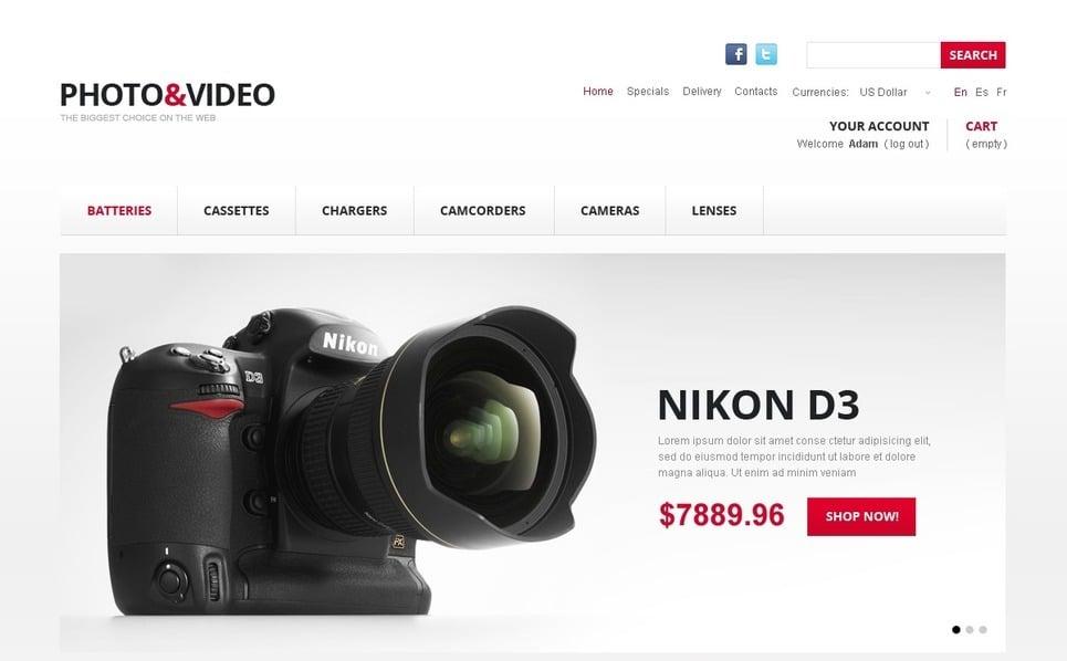 Video Mağazası  Prestashop Teması New Screenshots BIG