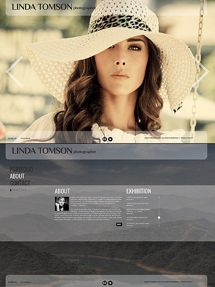 ADOBE Photoshop Template 41704 Home Page Screenshot