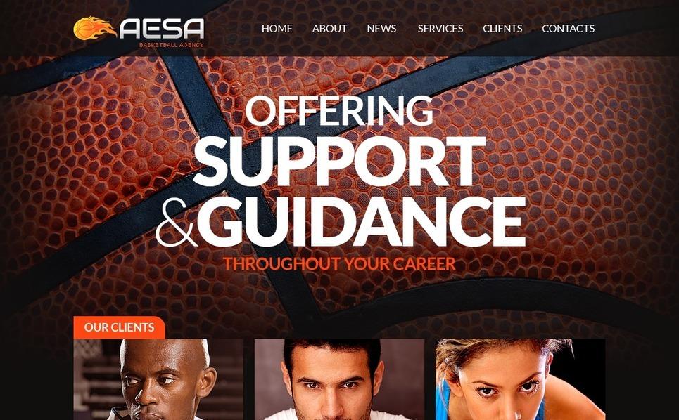Plantilla Web #41709 para Sitio de Baloncesto New Screenshots BIG