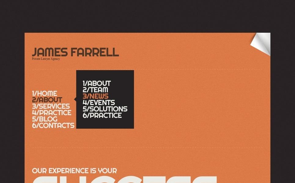 Plantilla Web #41711 para Sitio de Bufete de abogados New Screenshots BIG