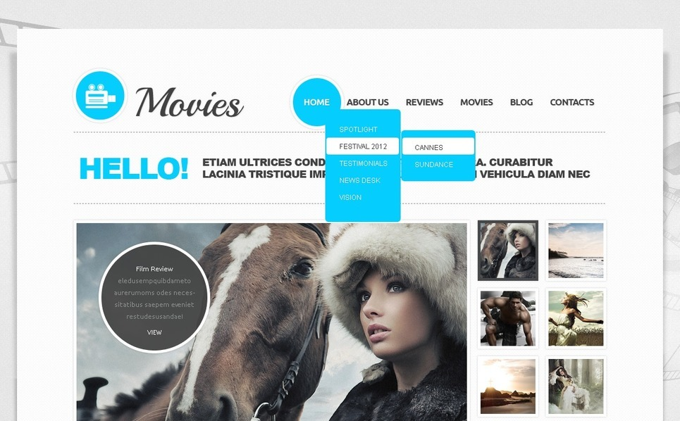 Joomla Template over Films New Screenshots BIG