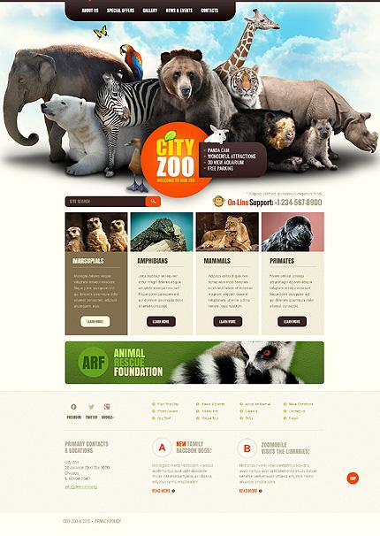 Wildlife website templates free download animals nature green.