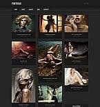 Art & Photography Moto CMS HTML  Template 41736