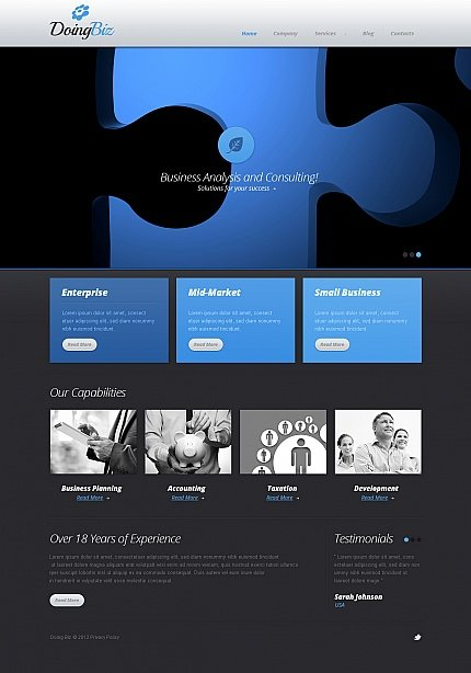 ADOBE Photoshop Template 41738 Home Page Screenshot