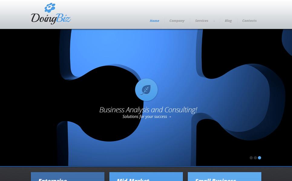 Szablon Moto CMS HTML #41738 na temat: biznes i usługi New Screenshots BIG
