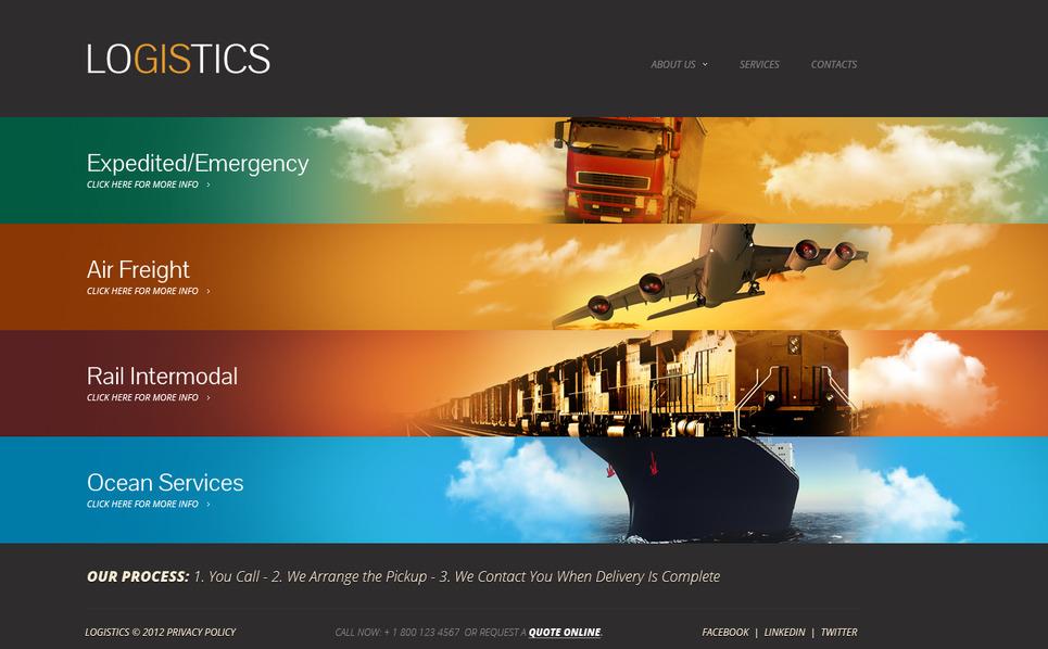Template Moto CMS HTML para Sites de Transporte №41739 New Screenshots BIG