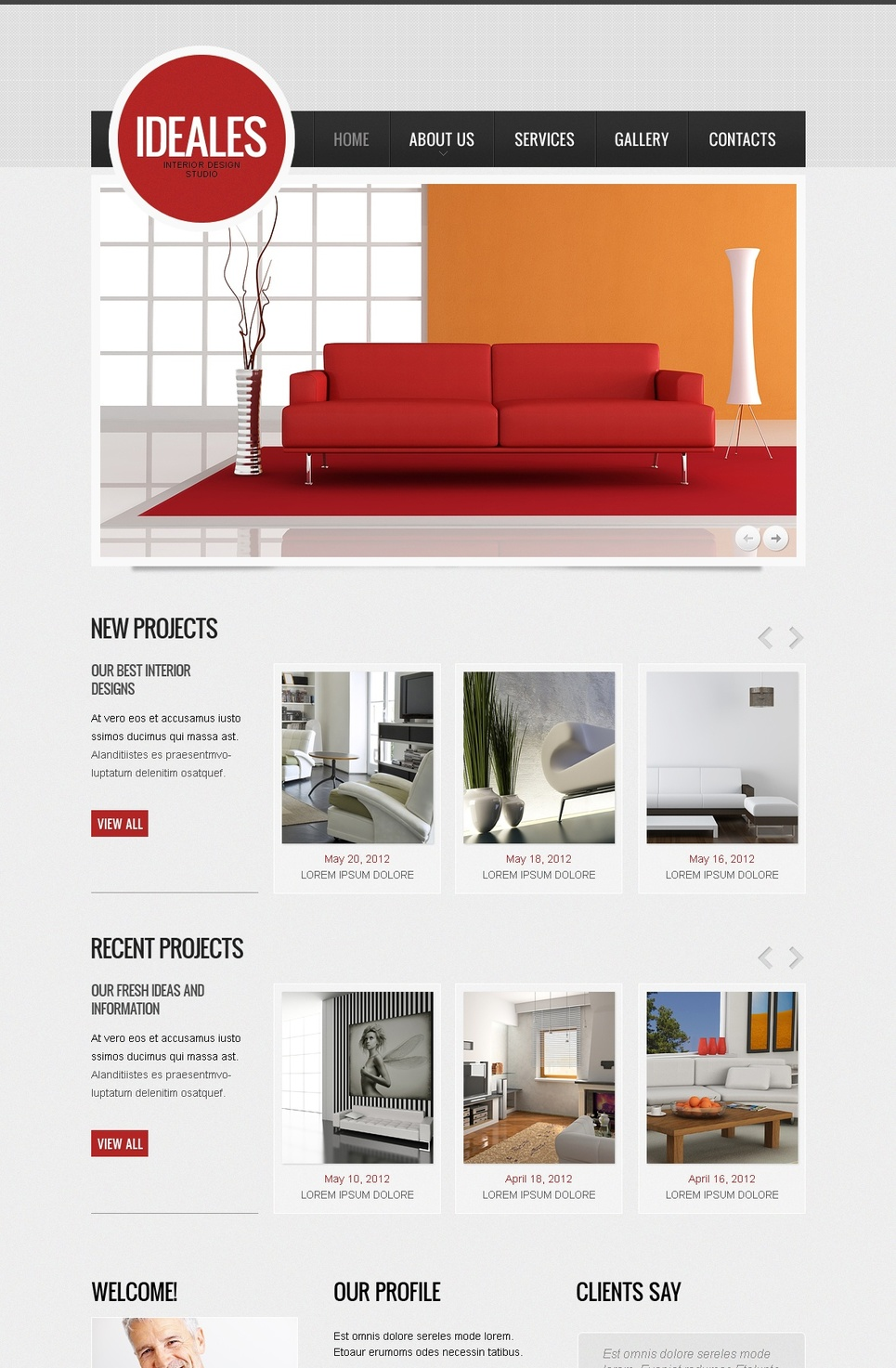 Content-Rich Web Template for Interior Designers - image