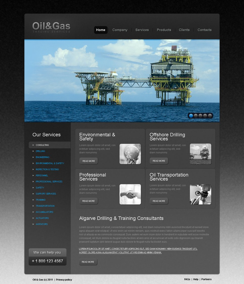 Oil And Gas Trading Company Website Template | MotoCMS