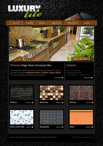 ADOBE Photoshop Template 41743 Home Page Screenshot