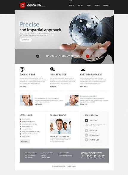 ADOBE Photoshop Template 41745 Home Page Screenshot