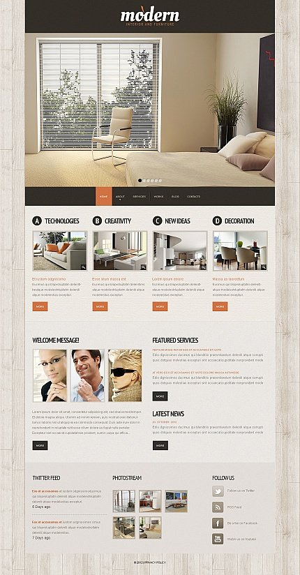 ADOBE Photoshop Template 41746 Home Page Screenshot