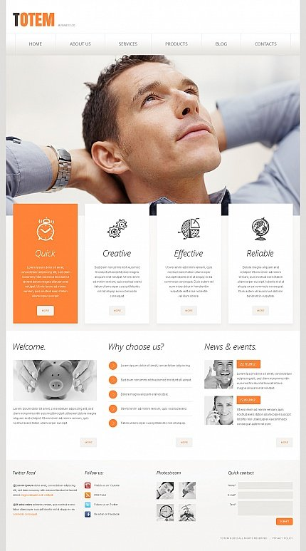 ADOBE Photoshop Template 41747 Home Page Screenshot