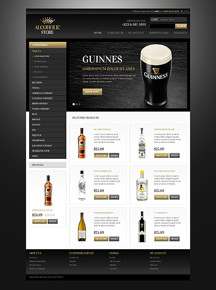 ADOBE Photoshop Template 41749 Home Page Screenshot