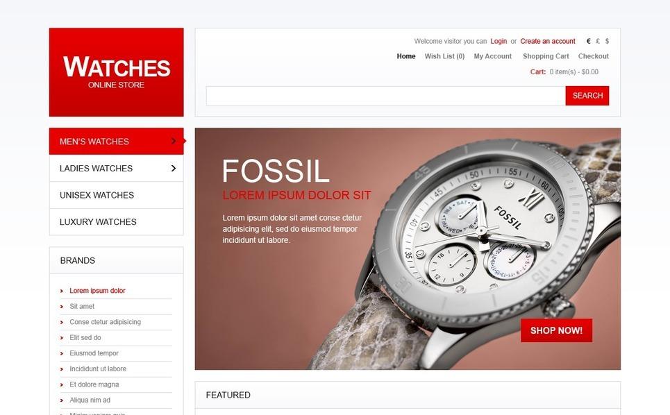 OpenCart Template over Horloges  New Screenshots BIG