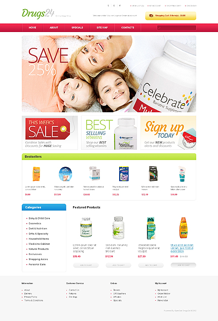ADOBE Photoshop Template 41751 Home Page Screenshot