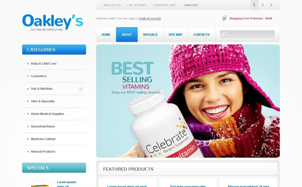 Template OpenCart  para Sites de Farmácia №41752 New Screenshots BIG