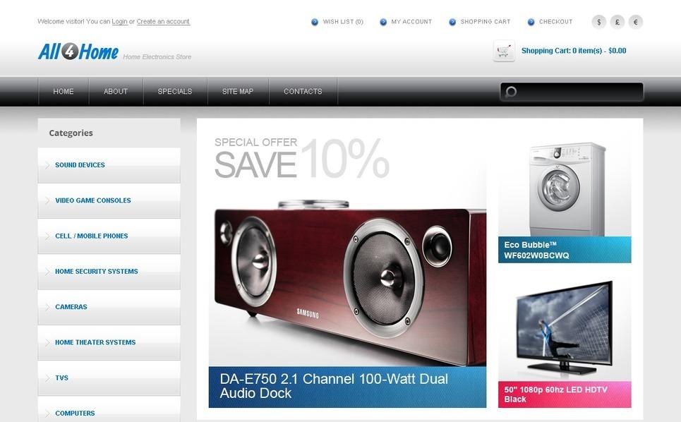 Plantilla OpenCart #41753 para Sitio de Tienda de electrónica New Screenshots BIG
