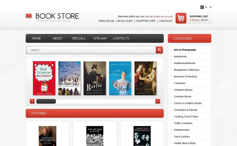 Szablon OpenCart #41756 na temat: książki New Screenshots BIG