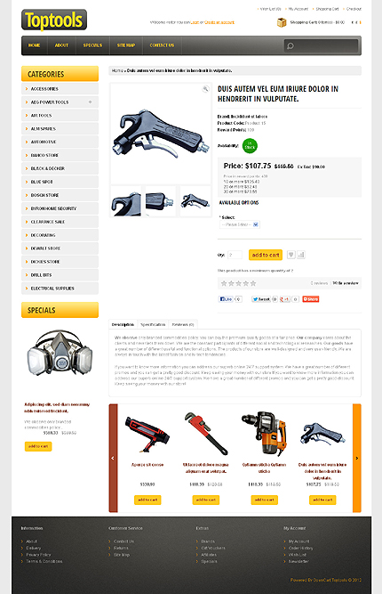 ADOBE Photoshop Template 41757 Home Page Screenshot