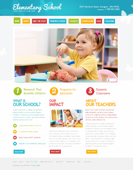 ADOBE Photoshop Template 41767 Home Page Screenshot