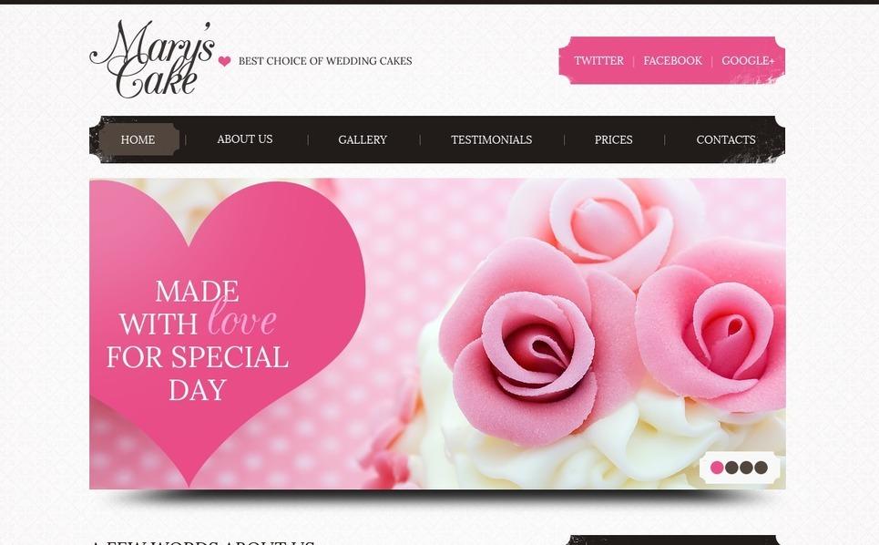PSD šablona Svatební dorty New Screenshots BIG